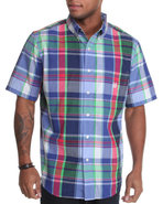 Men Dockside S/S Plaid Shirt Multi Large