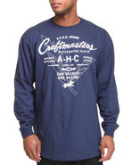 Akoo Men Craftmasters L/S Tee Navy X-Large