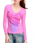 Tapout Women Thermal Tee Pink Medium