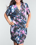 Women Slinky Dress W/ Pockets Multi Large