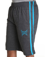 Tapout Men Tapout Fleece Sweat Short Charcoal Xx-L