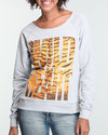 Women Wild Heart Pullover Sweatshirt Grey Large
