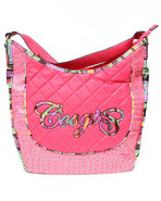 Coogi Women Croc Collection Hobo Handbag Pink