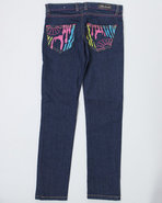 Girls Zebra Jeans (7-16) Dark Wash 12