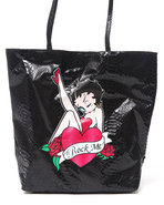 Women Betty Boop Party Girl Tote Black