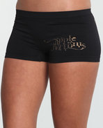 Women Pebbles Ab Seamless Boyshort Black Medium