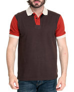 Men Bonnie Polo Brown Large