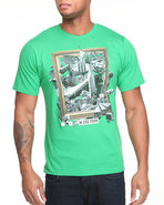 Men Tower Of Babble Tee Green Medium