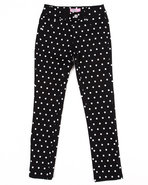 Girls Polka Dot Jeans (7-16) Black 7