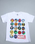 Boys Marvel Characters Tee (4-7) White 4