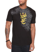 Wesc Men Rusted Animal Overlay Tee Black Small