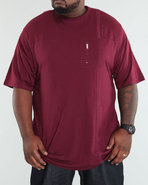 Men Lohan Short Sleeve Knit Maroon 4X