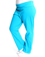 Women Yoga Pants (Plus) Light Blue 2X