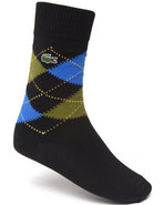Men Argyle Socks Black