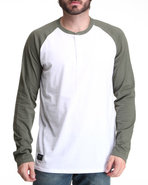 Men Reyes L/S 3-Button Tee Green X-Large
