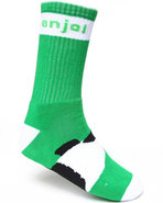 Men Panda Feet Socks Green
