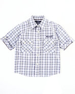 Boys Plaid Woven Shirt (4-7) Black 4