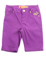 Girls Bermuda Shorts (7-16) Purple 7