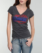 Nba Mlb Nfl Gear Women V-neck Clippers Tee With St
