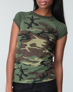 Drj Army/Navy Shop Women Rothco Woodland Camo Ragl