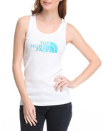 Women Half Dome Tank White Medium