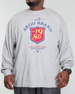 Akoo Men Est 1980 L/S Tee Grey Xx-Large