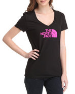 Women Half Dome V-Neck Tee Black X-Small