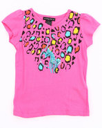 Girls Animal Print Tee (4-6X) Pink 4