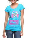 Women I Love Music Tee Blue Large
