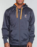 Men Gym Fleece Hoodie Navy Small