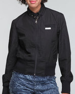 Women Members Only Classic Bomber Black X-Small