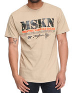 Men Mskn Camo Printed Tee Khaki Medium