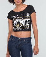 Women Roc The Vote Graphic S/S Tee Black Large