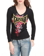 Tapout Women Blackfest Thermal Tee Black Medium