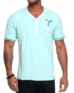 Lavie Men Crestfall S/S Henley Teal 3X-Large