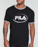 Men Oval Fila Tee Black X-Large