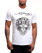 Men Tiger Head Basic Tee White X-Large