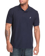 Men Solid Performance Polo Navy Medium