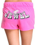 Women Jewel Active Shorts Pink Small