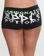 Women Fashionated Seamless Logo Short Black Medium