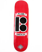 Men Sheckler Pinstripe 8.25  Skate Deck Red