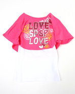 Girls Love 2-Fer Top (Little Girls) Pink 5