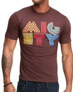 Men Mighty Strip S/S Tee Brown X-Large