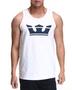 Men Icon Tank White X-Large