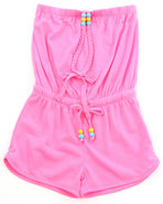 Girls Neon Romper (7-16) Pink 10/12 (M)