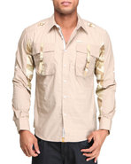 Lavie Men El Generale Strap L/S Button-Down Beige 
