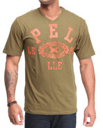 Men Victory S/S V-Neck Tee Olive 3X-Large