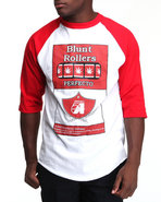 Men Community 54 Blunt Rollers Pack 3/4 Raglan Red