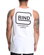 Men Grind Tank White Medium