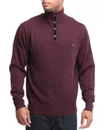 Men Casper Pullover Mock Turtleneck Sweater Maroon